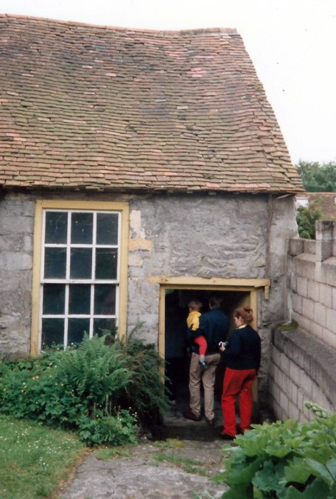 The outside of the original boys school-room as seen in 1992