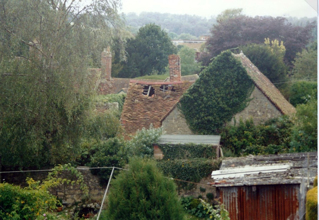 View of Mitcheldene from the roof of the Tyre Centre in Holloway Road in 1998