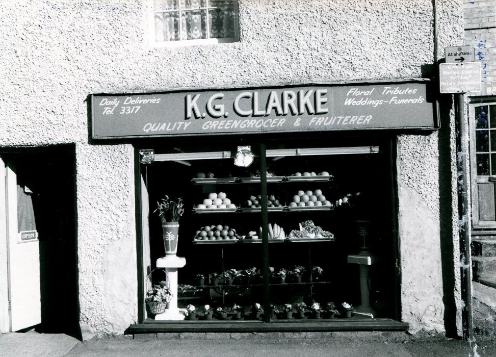 1988. Clarke Greengrocer business at 39 High Street as shown in the Centenary booklet