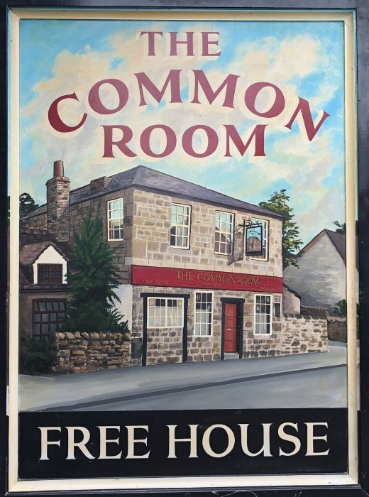 The other side of the old 'Common Room' hanging sign