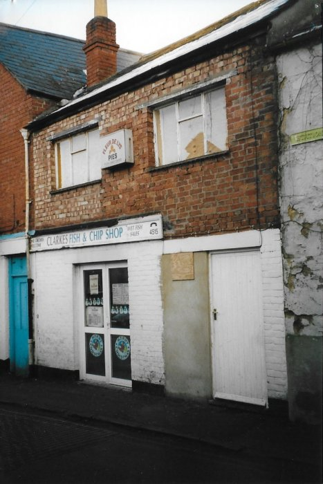 2000, Clarkes fish and chip shop in Station Road