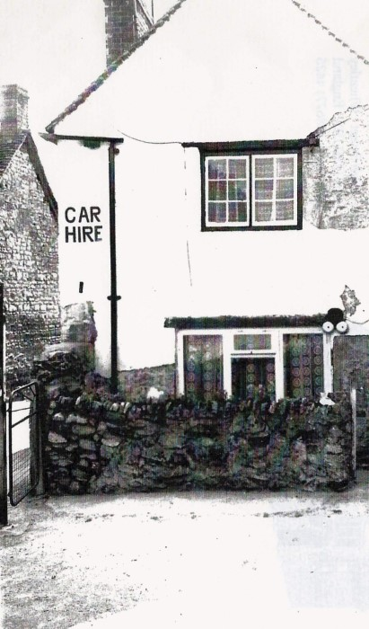 Sign for the car hire business