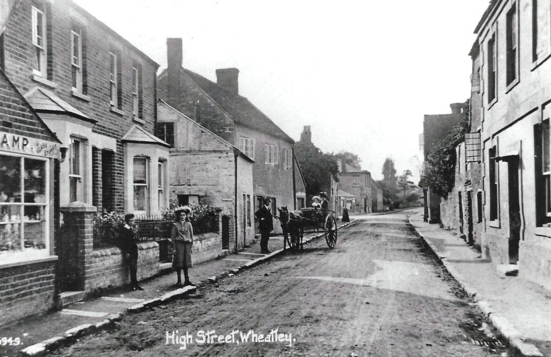 High Street c. 1900s looking east from Stamp's shop