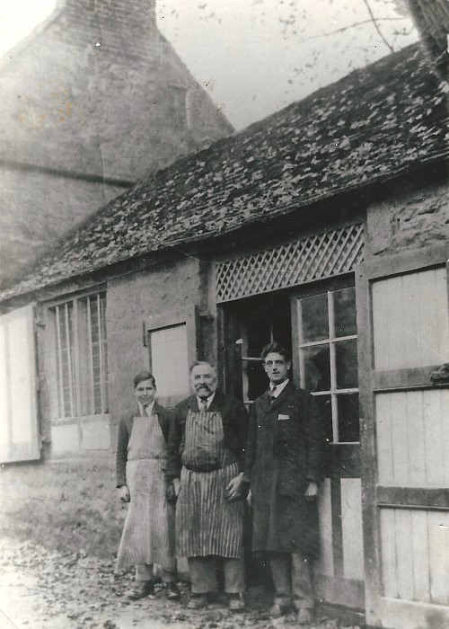 John White and staff at Rose's butchers shop