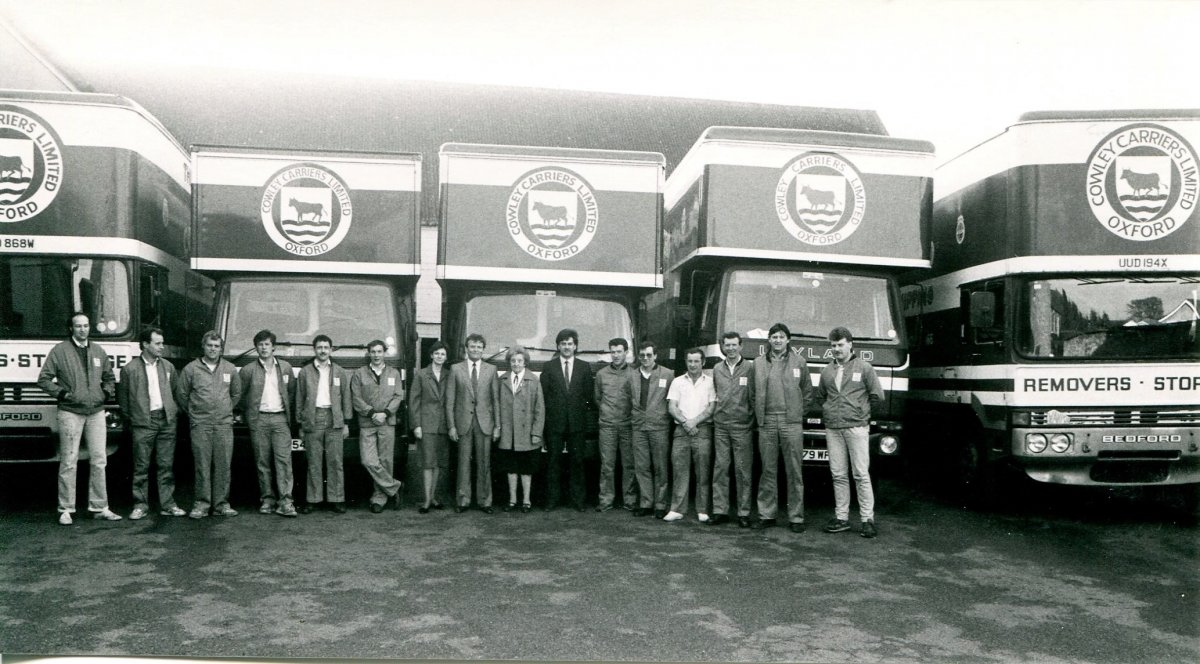 1988. Staff at Cowley Carriers as shown in the Centenary booklet