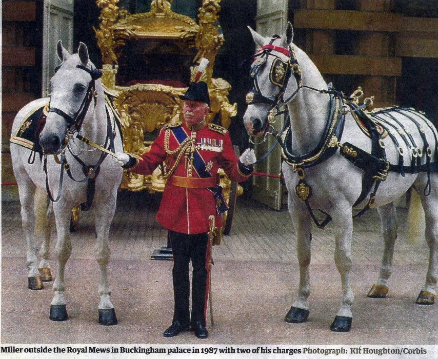 Miller in 1987 in the Royal Mews