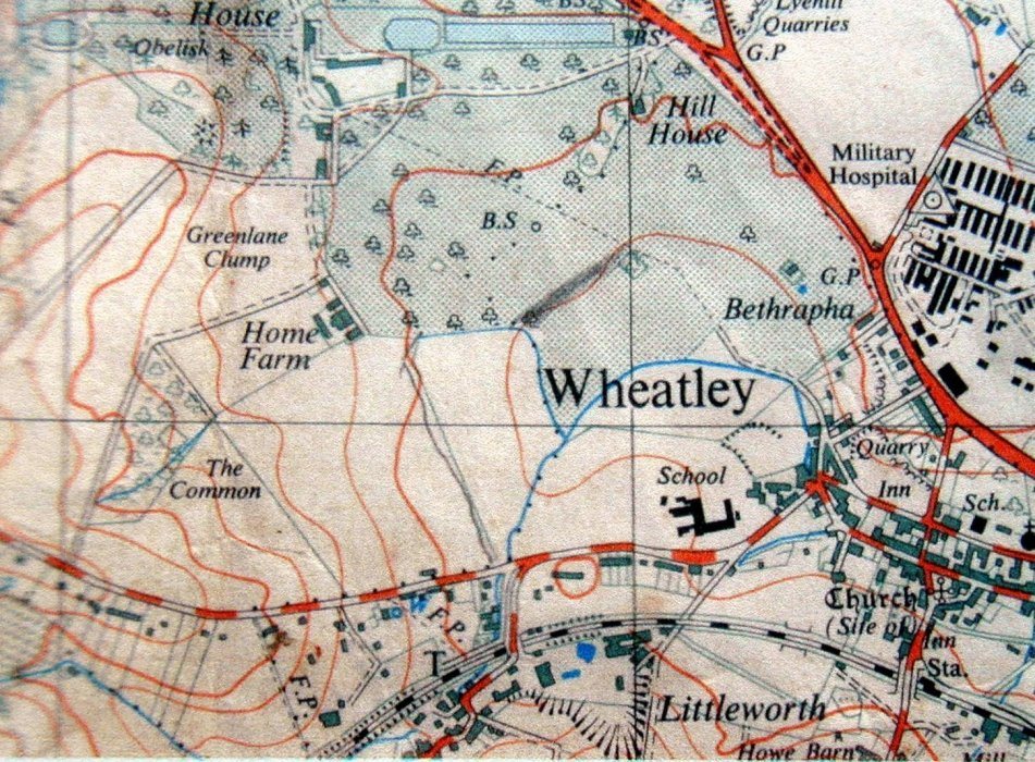 Map showing Westfield, Bethrapha and the Military Hospital in Holton