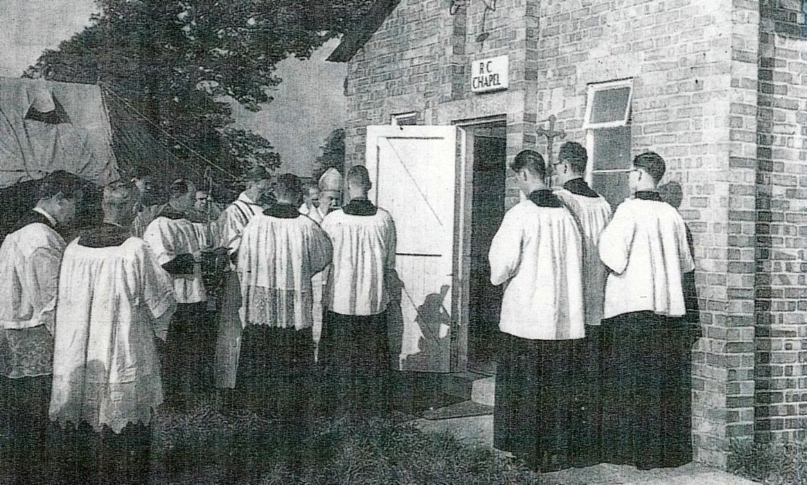 Blessing of the chapel in 1958