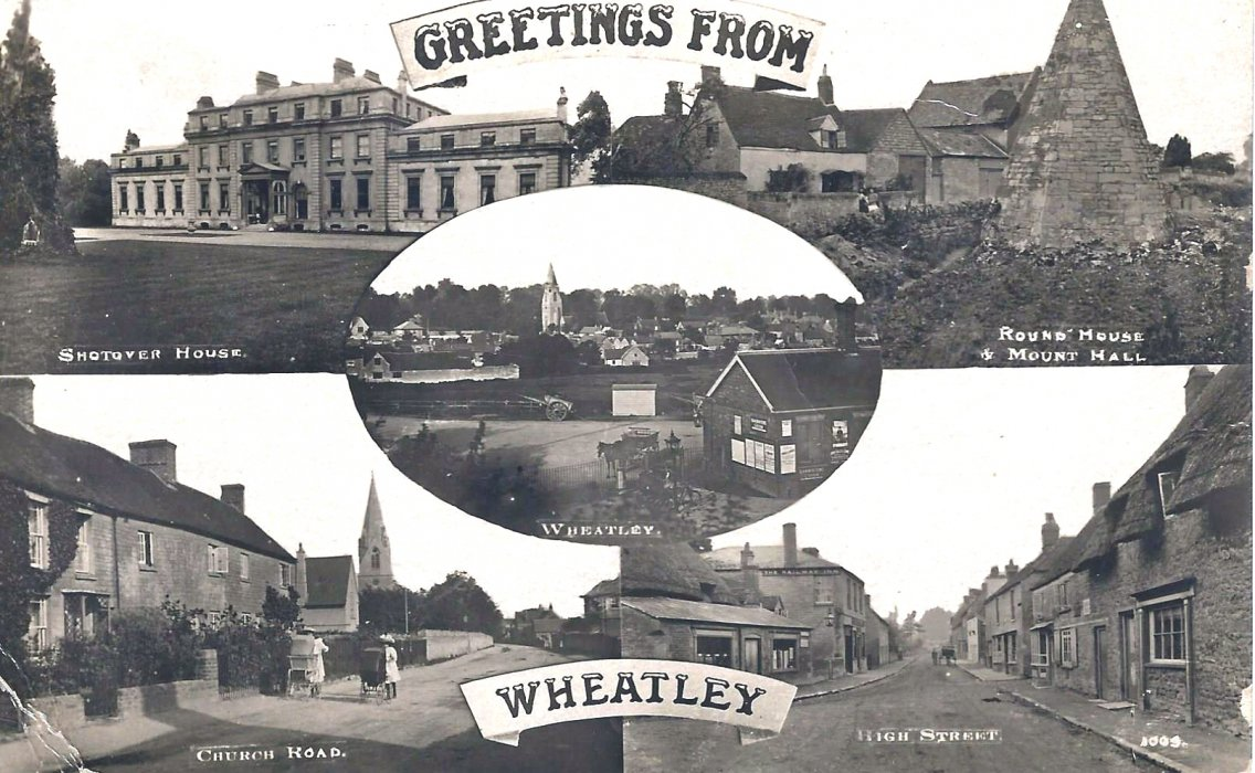 1918. Postcard with five views of Wheatley