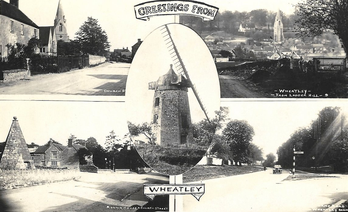 1918. Post card with five views of Wheatley