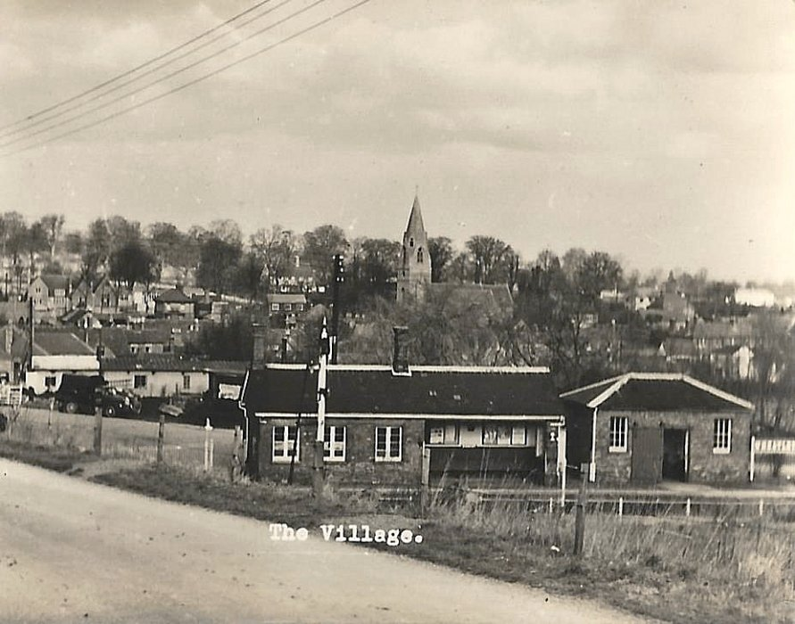 The village with the station in the foreground c. 1950