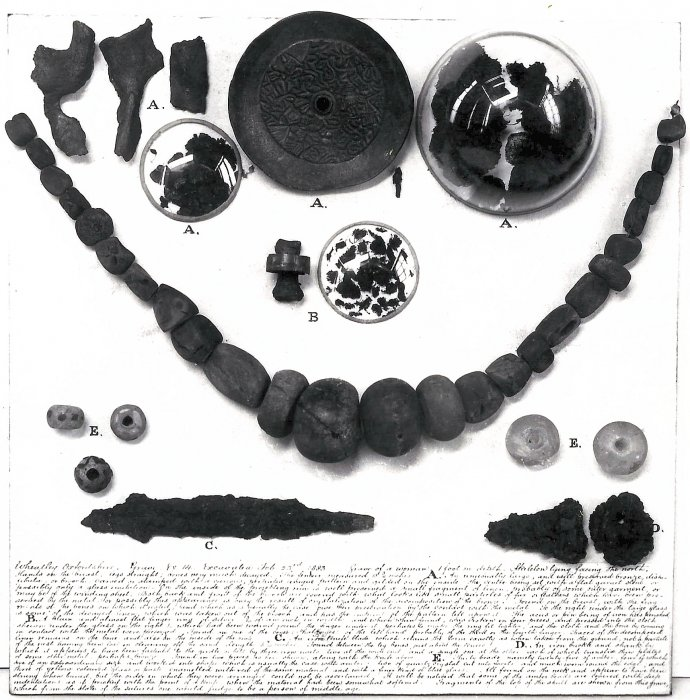 Grave goods from Saxon Grave 14