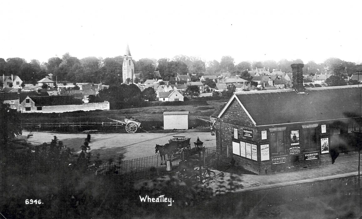 Railway Station and view of Wheatley
