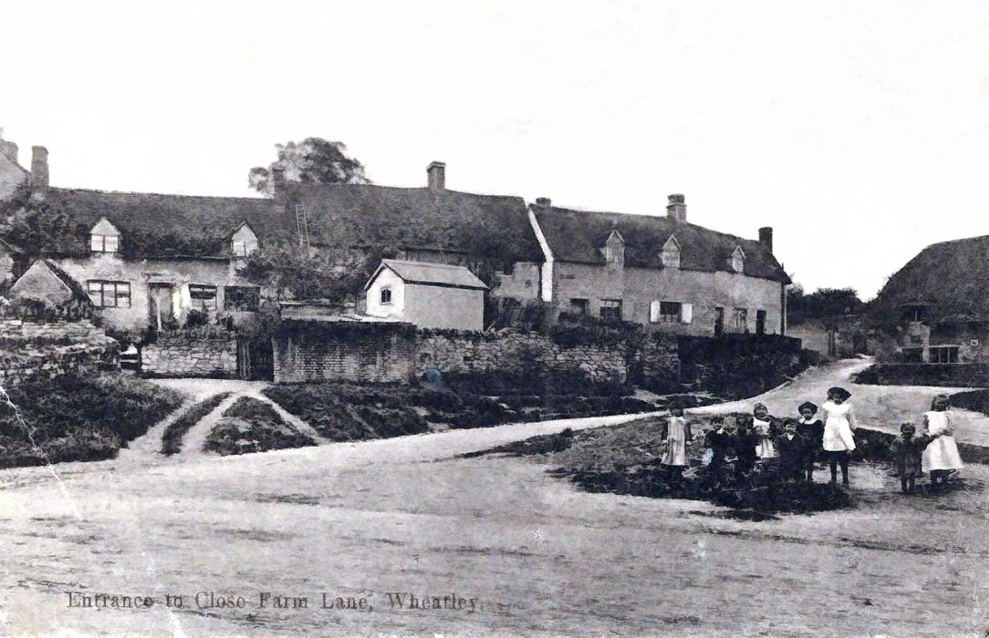 Entrance to Farm Close Lane. Note that this was before Mulberry Drive was constructed