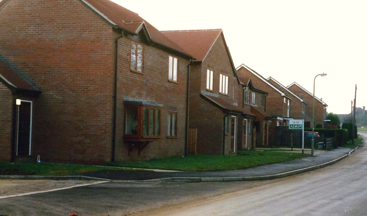 New housing on the site of Brookside Motors