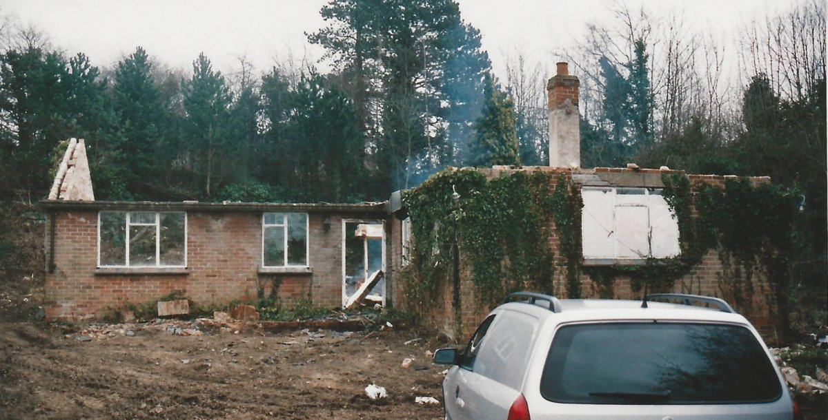 The first bungalow to be built by the Smiths in the 1950s is demolished in 2006