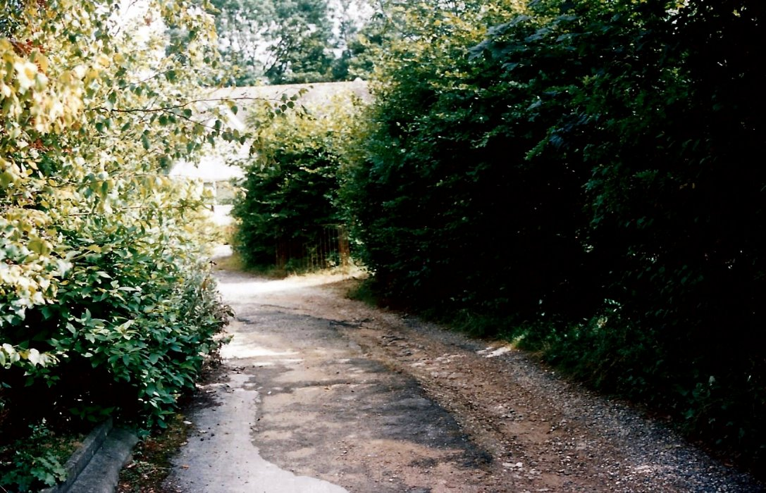 The private road in the old quarry
