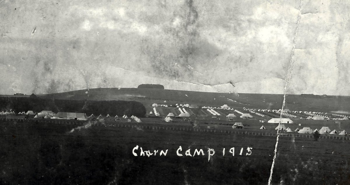 1915. Churn Camp on the Wiltshire Downs