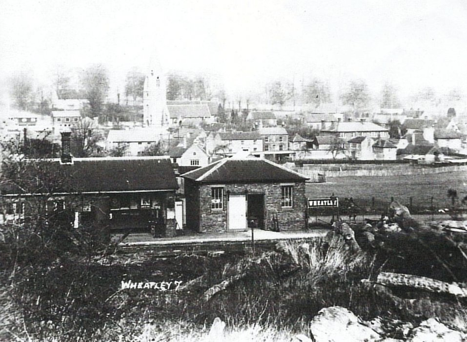 Packer Collection 1920s photo of Wheatley village and station from the adjacent Avery's sawmill