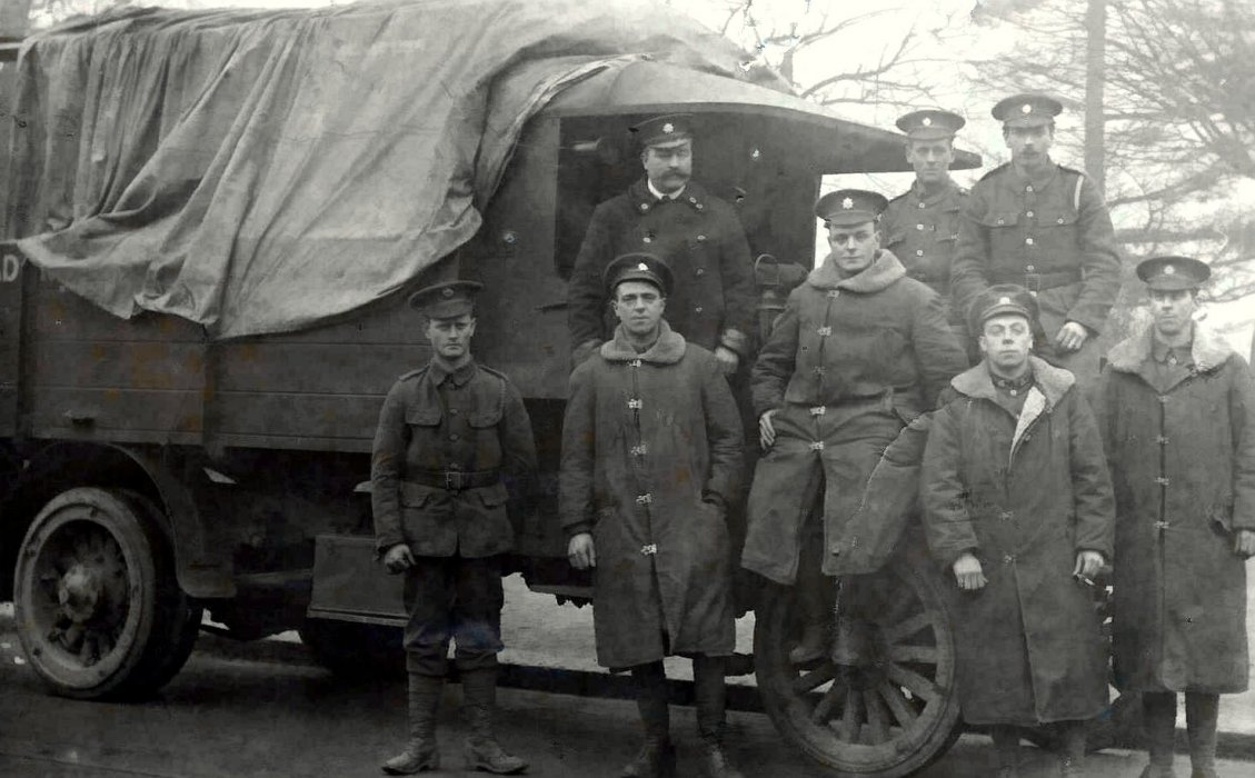 Bos Berry, 2nd from left, with his unit