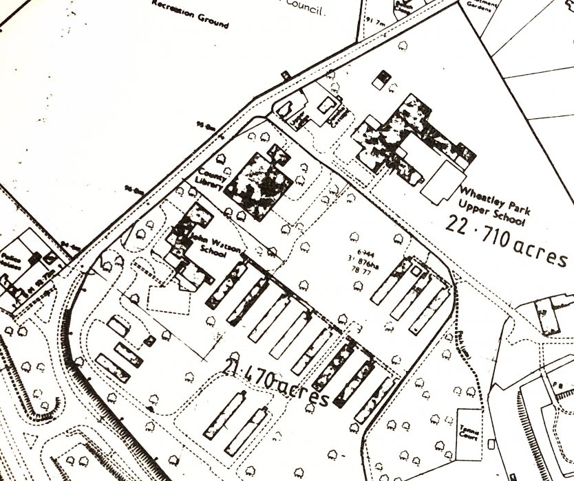 Plan of Military Hospital at Holton Park