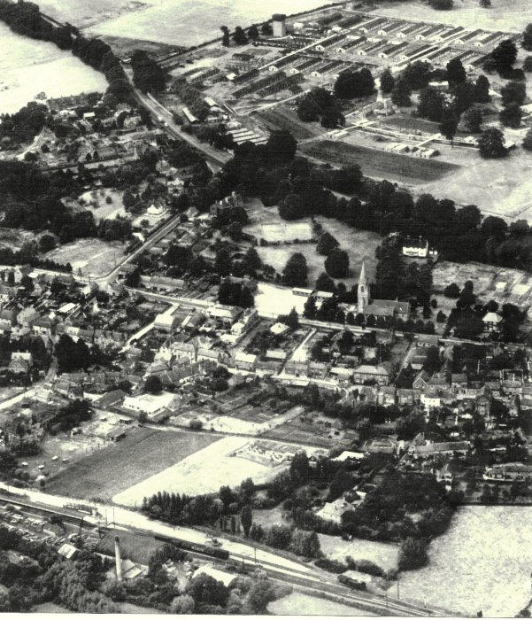 Aerial photograph of the Military Hospital at Holton in 1950s