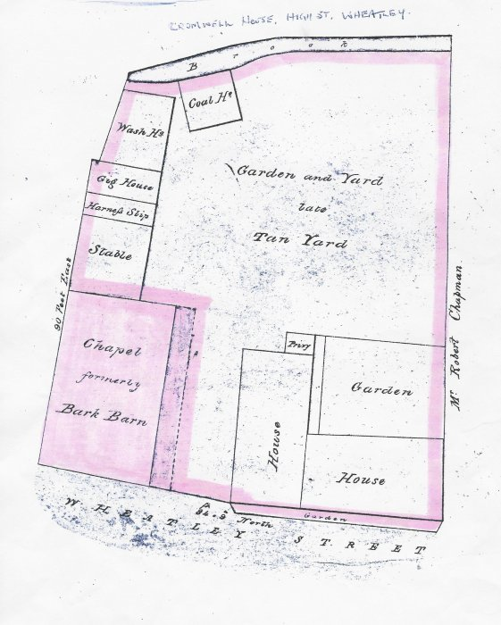 Pink area was sold to Mr James Slater on 7 July 1852