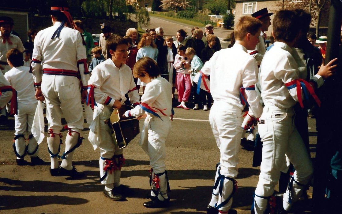 Morris Dancers at Wheatley May Day 1987