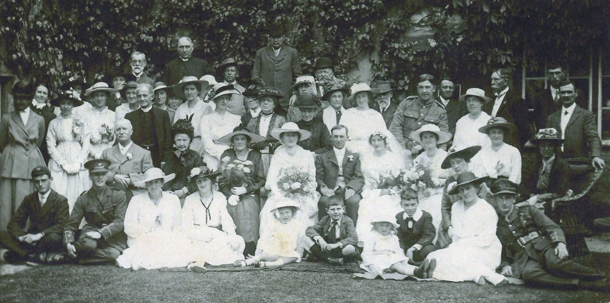 Wedding of presumed parents of Mary Struch on 2 June 1917
