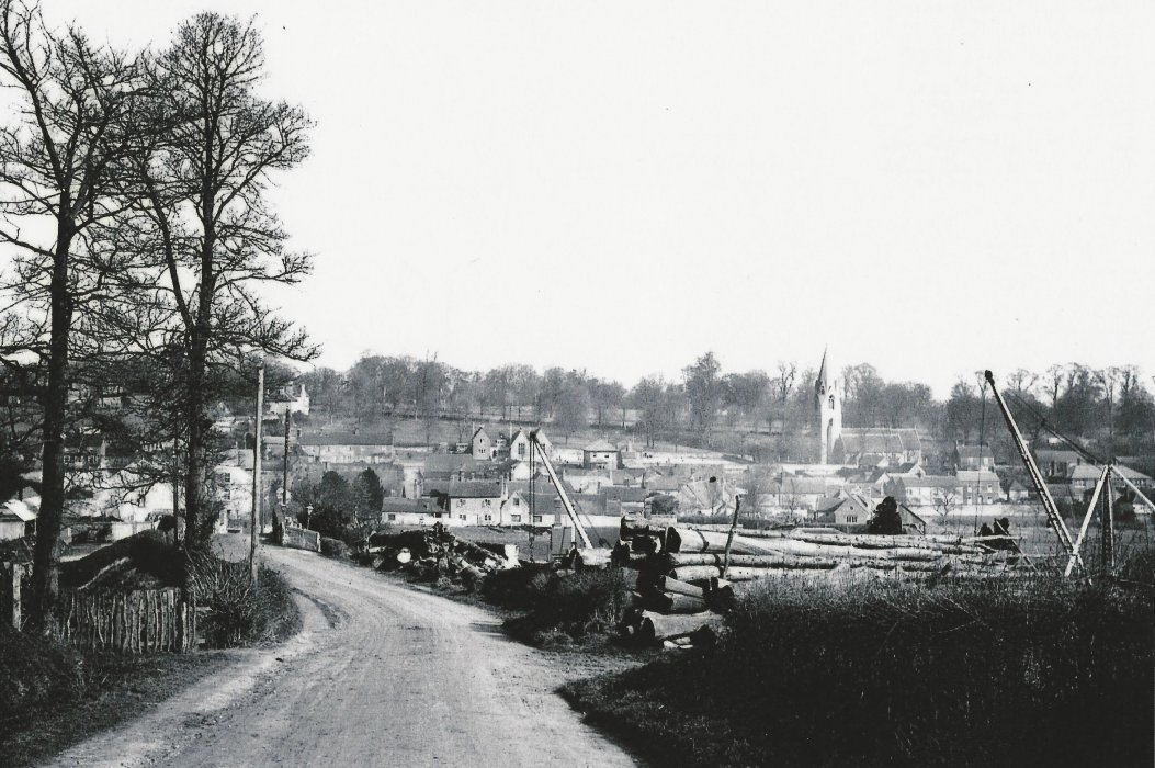 c. 1914, view from Ladder Hill with Cullum's timber yard on the right.