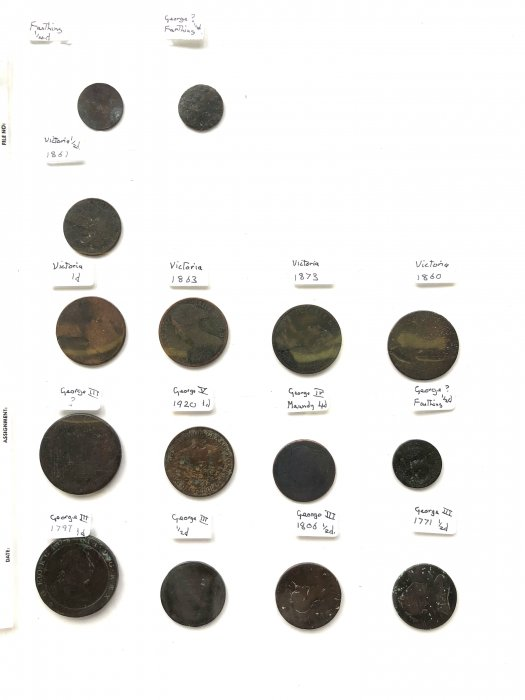 Fifteen coins dating from 1771- 1873