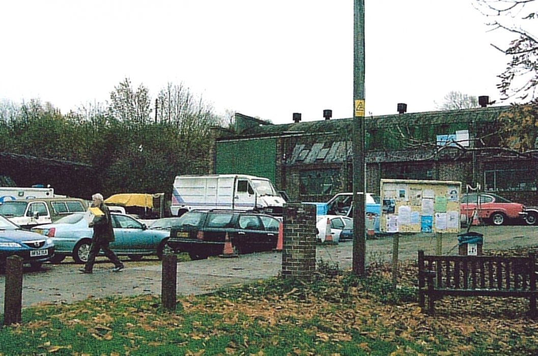 2009. Forecourt of Axford's. This is now (2018) used as a hand car wash business.