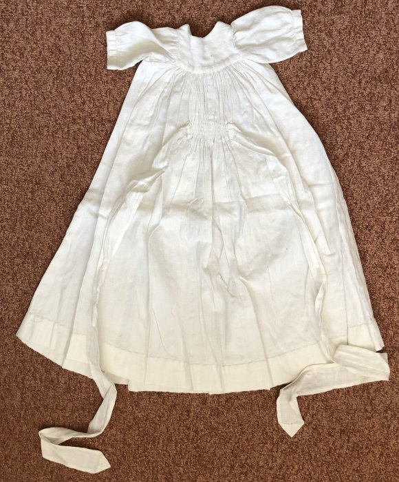 Christening gown c 1940s