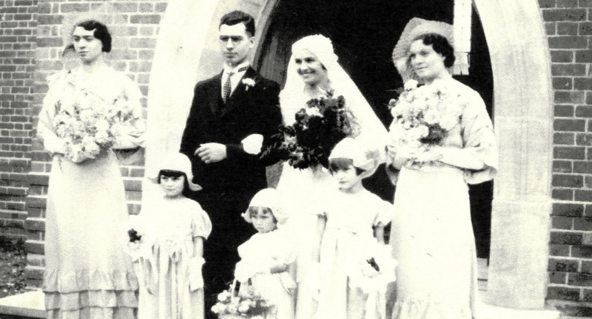 Wedding of Nellie Shorter to Edward Russell in 1934