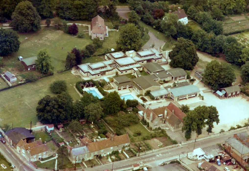 Aerial view of school in Church Road