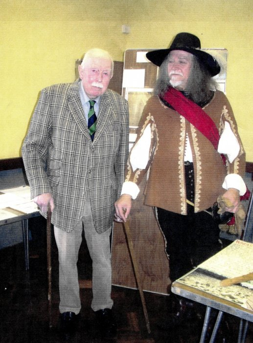 Sir John Miller at an exhibition in October 2003
