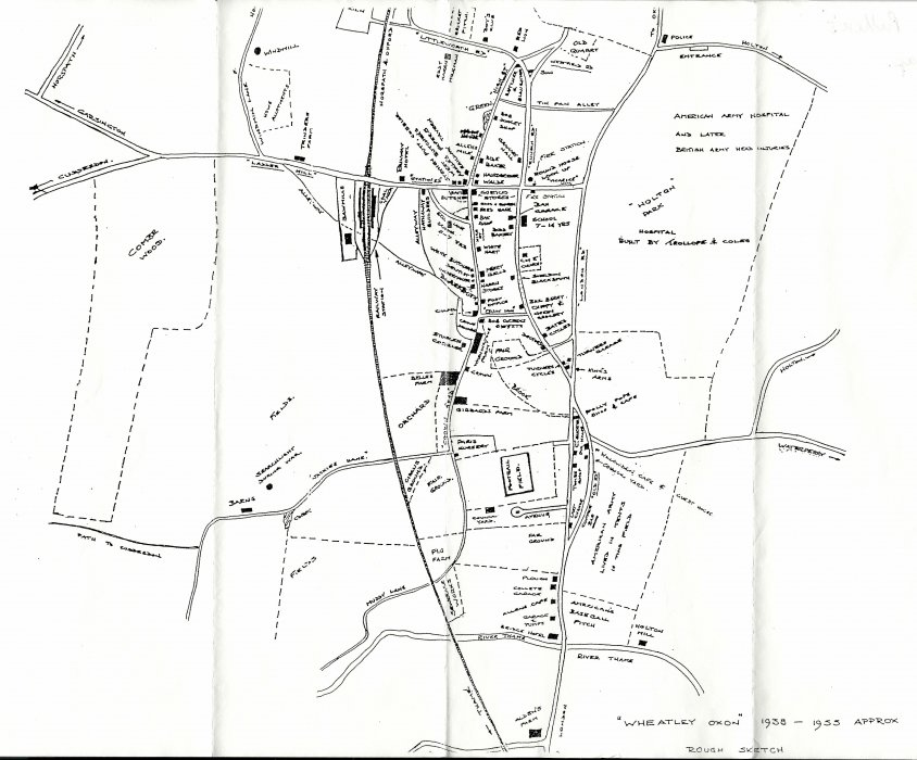 Map of Wheatley businesses 1939-1955