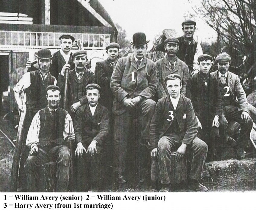 1903. William Avery and his family and workers named