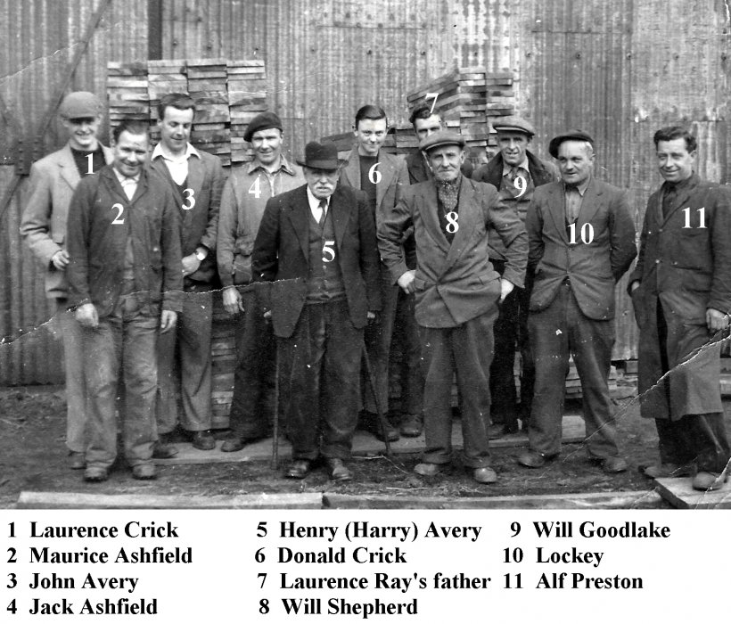 Date not known. Avery workers named