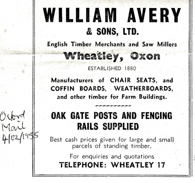 Oxford Mail advertisement 4 February 1955