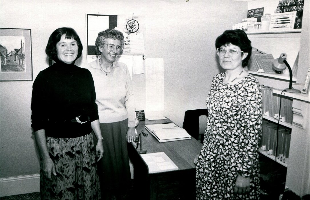 1988. Staff at Wheatley Dental Practice at 96 Church road as shown in the Centenary booklet