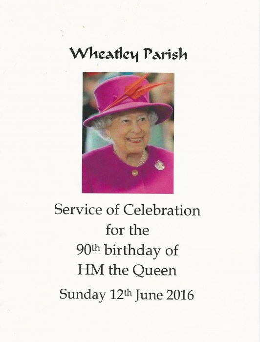 Service of Celebration programme for the 90th birthday of HM the Queen