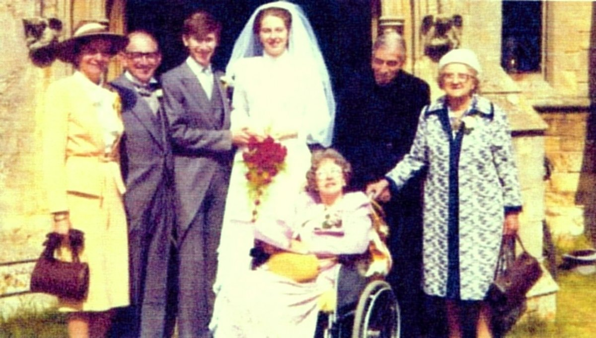 Wedding of Philip May and Theresa Brasier, 1980