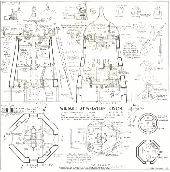 Technical drawing of Wheatley Windmill