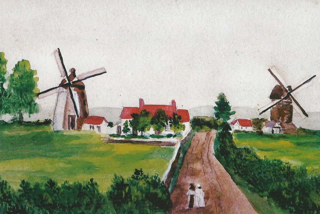Photo of the two windmills