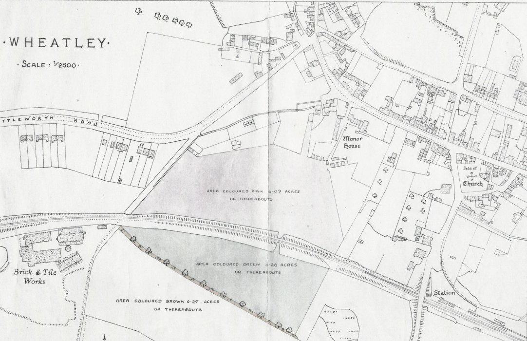 Plan showing land still owned by the Manor as at 2018