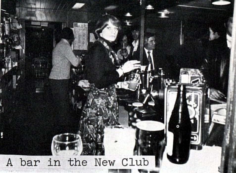 A bar in the New Club