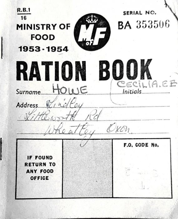 Ration book 1953-1954