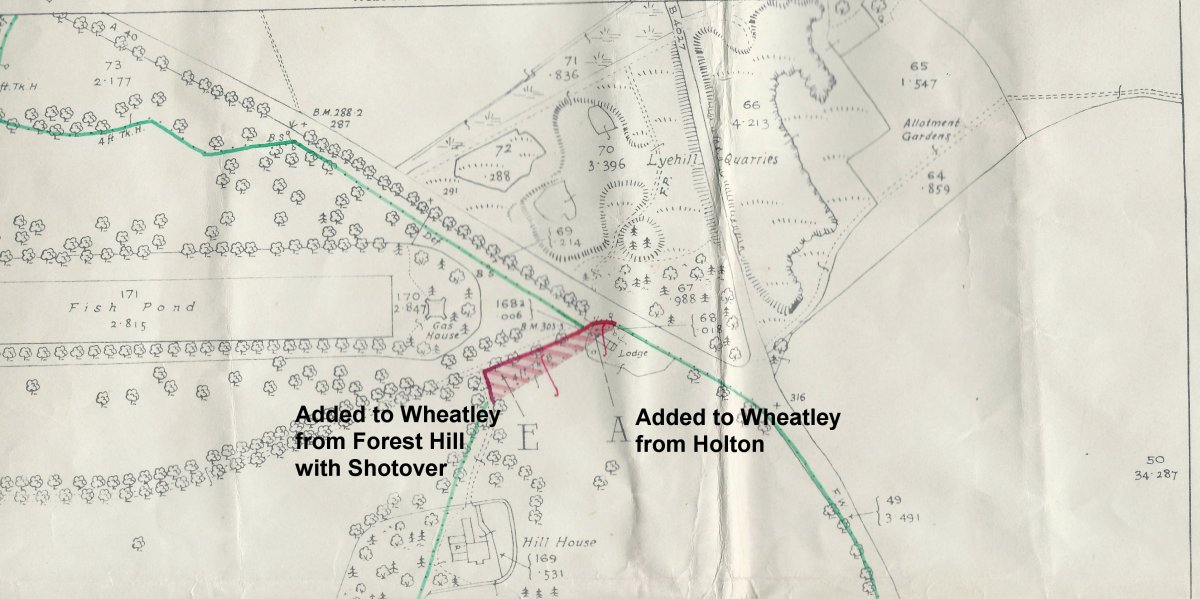 Extension to north-west edge of Westfield with annotations