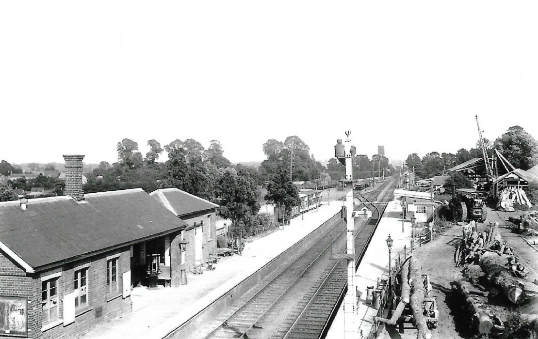 Wheatley station with Avery's sawmill evident on the right